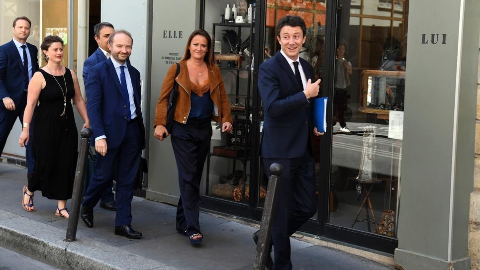 Benjamin Griveaux arrive au siège de LREM à Paris, le 9 juillet 2019