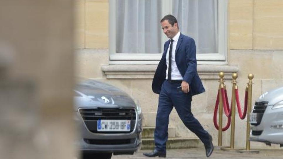 Benoît Hamon à son arrivée le 25 août 2014 à l'Hôtel Matignon