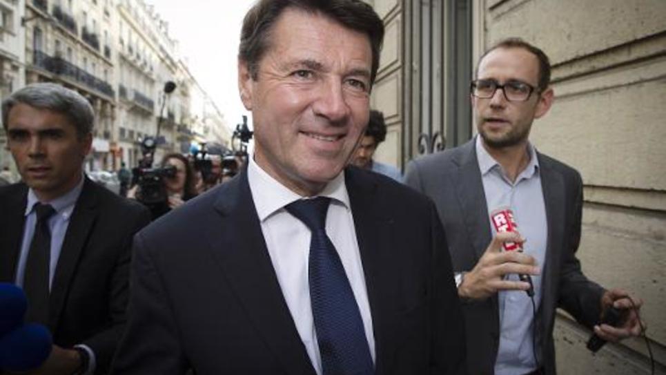 Le maire UMP de Nice Christian Estrosi, le 19 septembre 2014 à Paris