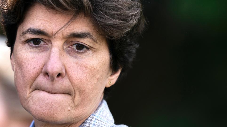 L'ex-eurodéputée MoDem Sylvie Goulard le 12 septembre 2019 à Genval (Belgique)