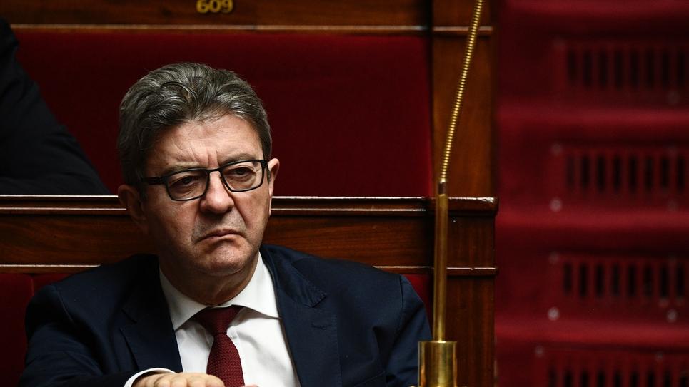 Le leader de La France insoumise Jean-Luc Mélenchon à l'Assemblée nationale à Paris, le 27 mars 2019