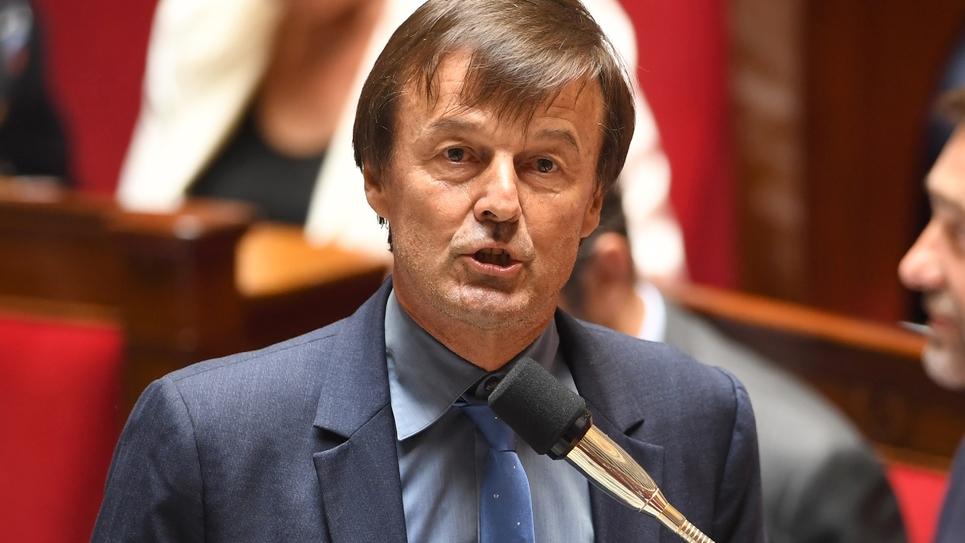 Le ministre de la Transition écologique, Nicolas Hulot, le 3 juillet 2018 à l'Assemblée nationale.