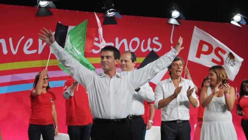 Manuel Valls le 31 août 2014 à l'université du PS à La Rochelle