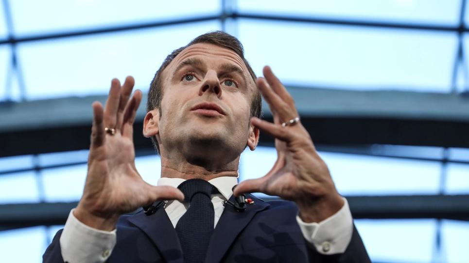 Le président français Emmanuel Macron à Paris le 09 octobre 2018