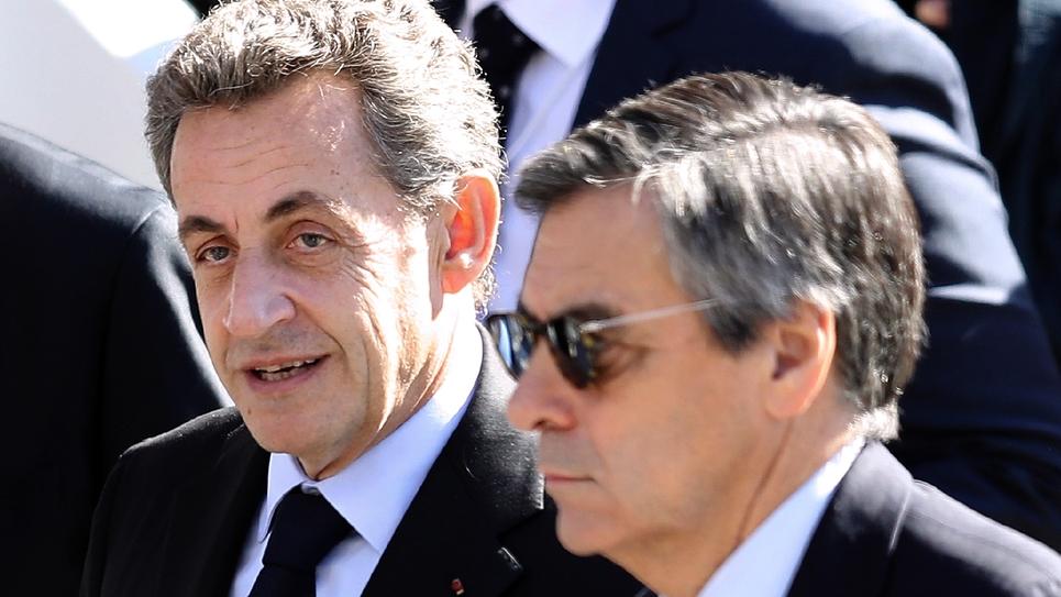Nikolas Sarkozy et François Fillon à Nice, le 15 octobre 2016