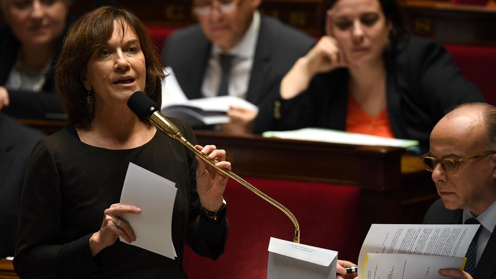 Laurence Rossignol, ministre des Familles, de l'Enfance et des Droits des femmes, lors de la séance des questions au gouvernement, à l'Assemblée nationale, le 18 janvier 2017.