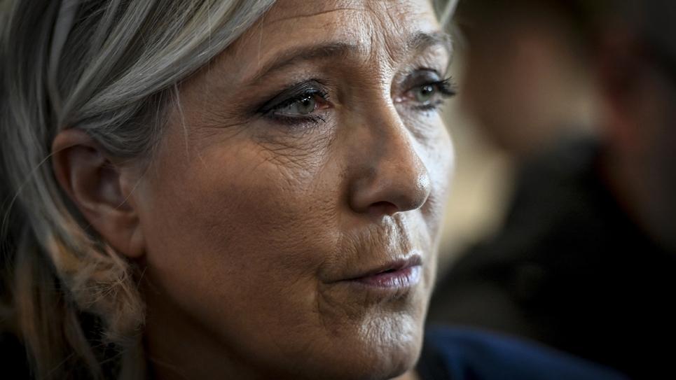 Marine Le Pen, la présidente du Rassemblement national, le 14 février 2019 à Chassieu près de Lyon