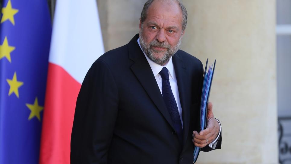 Le ministre de la justice Eric Dupond-Moretti, après le premier conseil des ministres du nouveau gouvernement, le 7 juillet 2020 à l'Elysée, Paris
