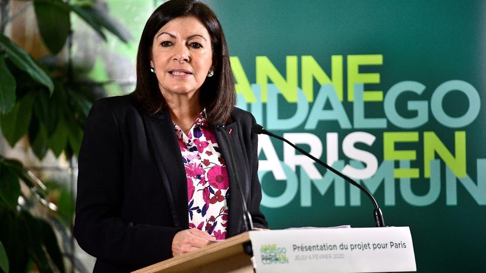 La maire socialiste de Paris Anne Hidalgo présente son programme électoral pour sa réelection dans la capitale, le 6 février 2020