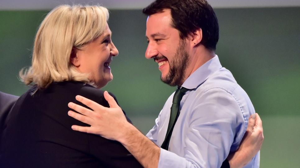 Marine Le Pen et Matteo Salvini en janvier 2016 à Milan