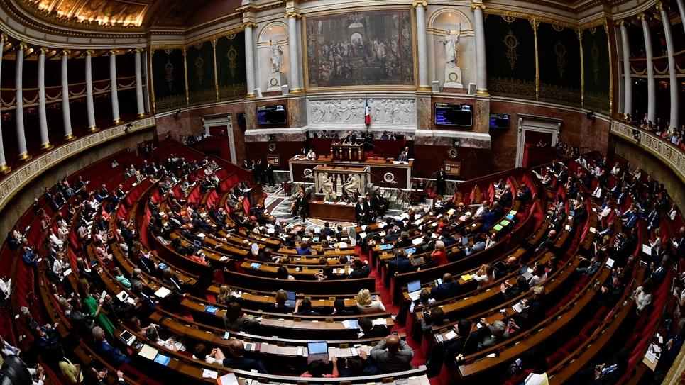 L'Assemblée nationale le 1er août 2018, à Paris