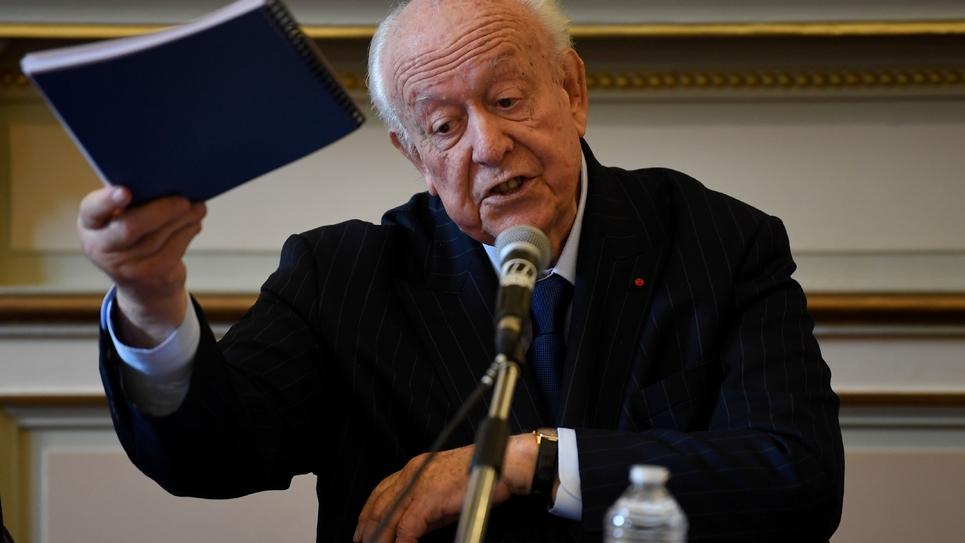 Le maire Les Républicains de Marseille Jean-Claude Gaudin, lors d'une conférence de presse dans sa ville le 4 novembre 2019