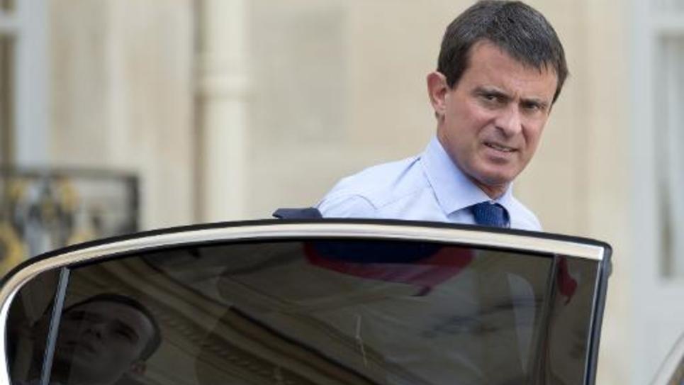 Le Premier ministre Manuel Valls à la sortie de l'Elysée le 1er septembre 2014 à Paris