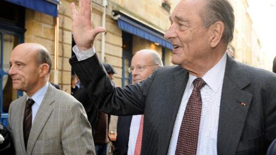 Alain Juppé et Jacques Chirac le 20 novembre 2009 à Bordeaux