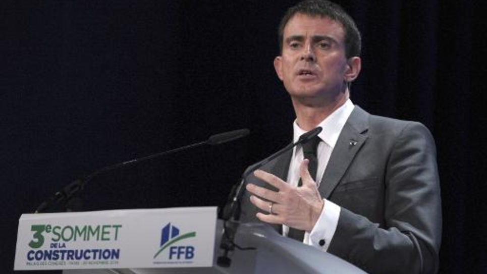 Le Premier ministre Manuel Valls, le 20 novembre 2014 à Paris