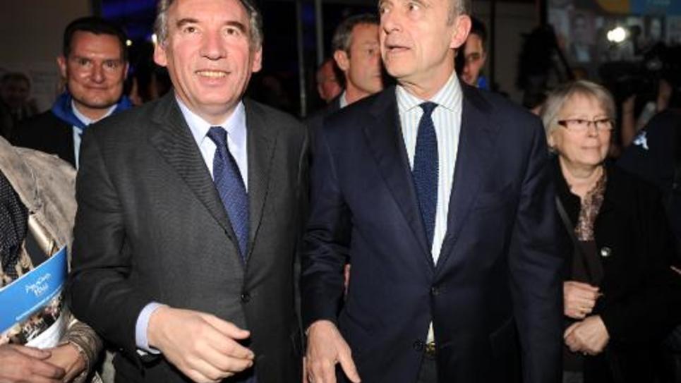 François Bayrou et Alain Juppé le 8 mars 2014 à Pau