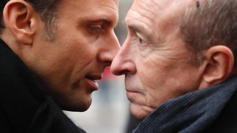 Emmanuel Macron et Gérard Collomb le 7 janvier 2018
