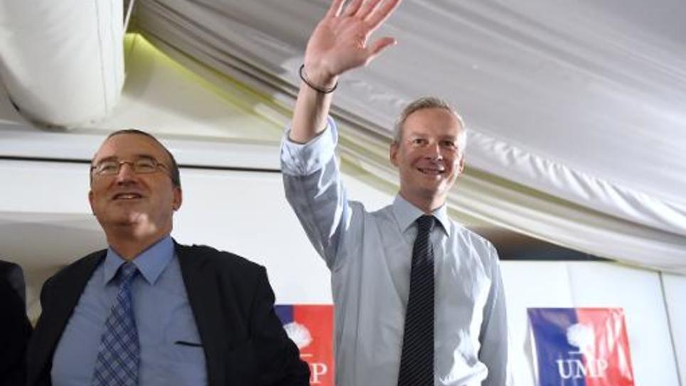 Hervé Mariton et Bruno Le Maire le 8 octobre 2014 à Aix-en-Provence