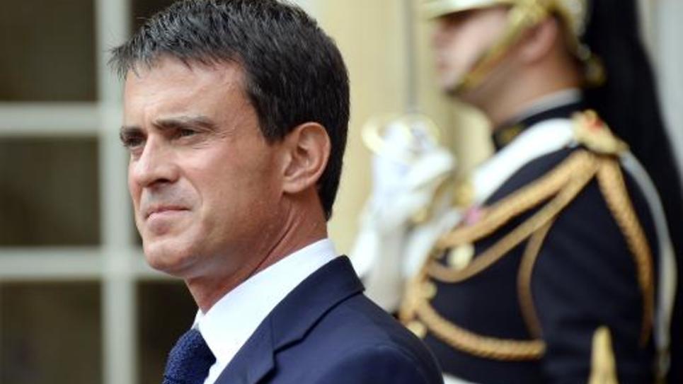 Le Premier ministre Manuel Valls à Matignon, le 2 septembre 2014
