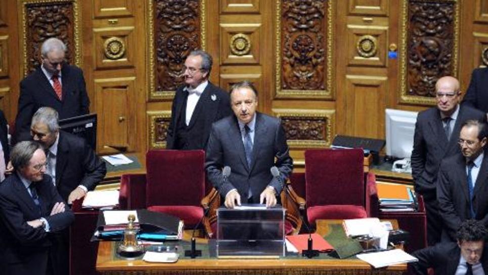Jean-Pierre Bel le 1er octobre 2011 au Sénat à Paris