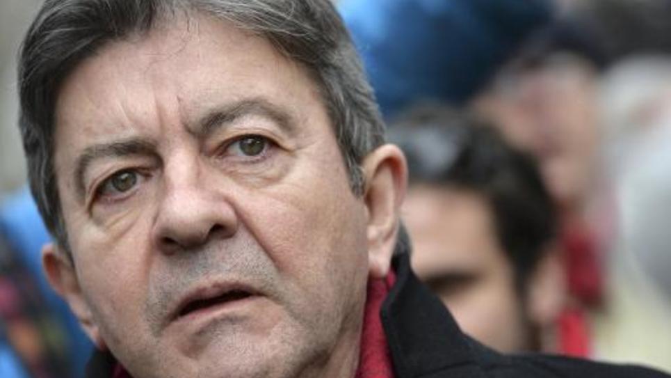 Le fondateur et chef de file du Parti de Gauche, Jean-Luc Mélenchon, lors d'une manifestation à Paris le 15 février 2015