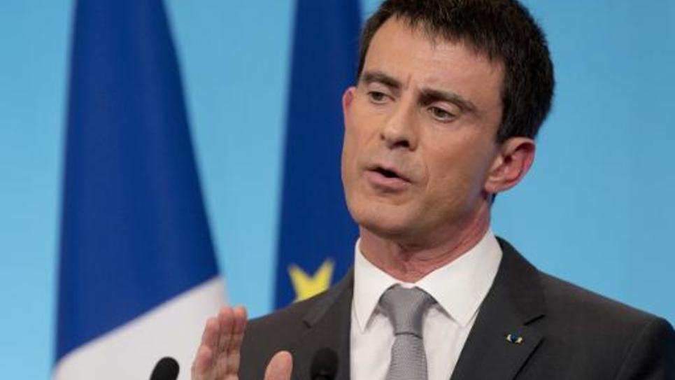 Le Premier ministre Manuel Valls, le 6 mars 2015 à l'Hôtel Matignon, à Paris