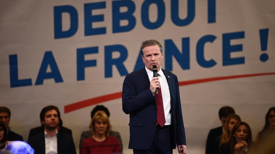 Nicolas Dupont-Aignan, candidat de Debout la France à la présidentielle, le 7 décembre 2016 à Paris