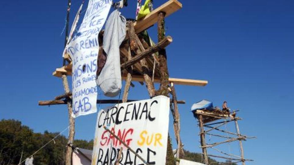 Le site du barrage contesté de Sivens occupé par des militants, le 29 octobre 2014 près de Gaillac, dans le Tarn