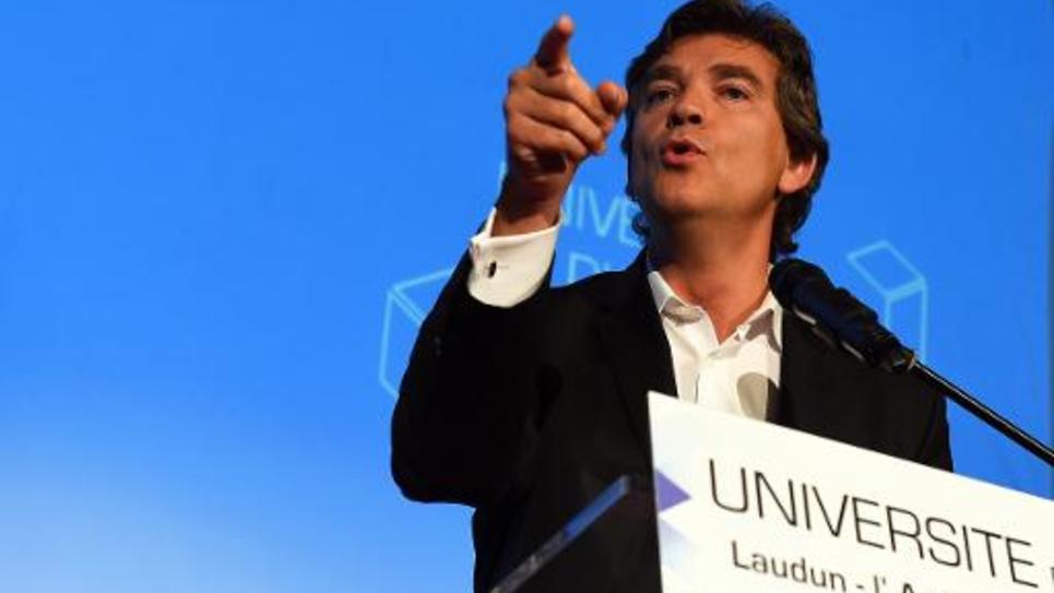 Arnaud Montebourg à l'Université d'automne à Laudun-l'Ardoise, le 5 octobre 2014