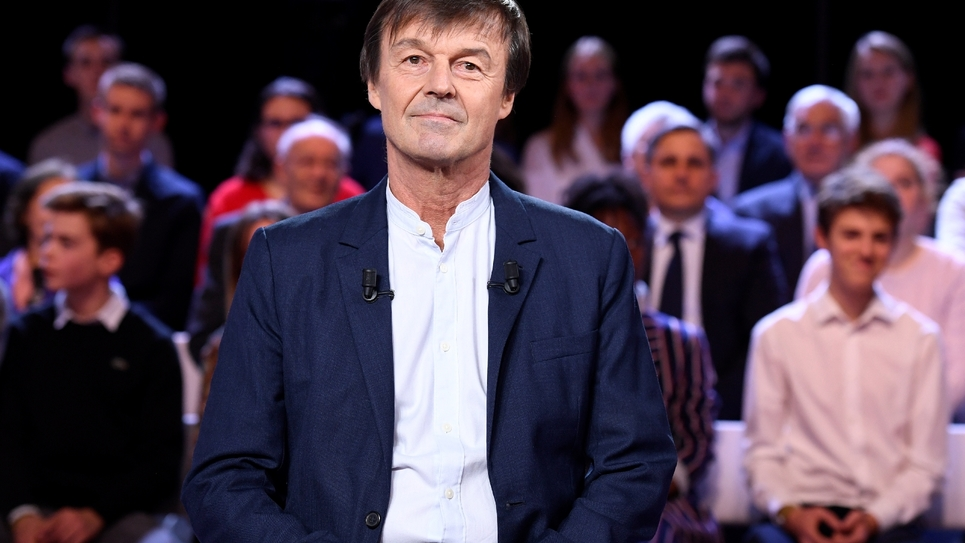 Nicolas Hulot sur un plateau de télévision, le 22 novembre 2018 à Saint-Cloud