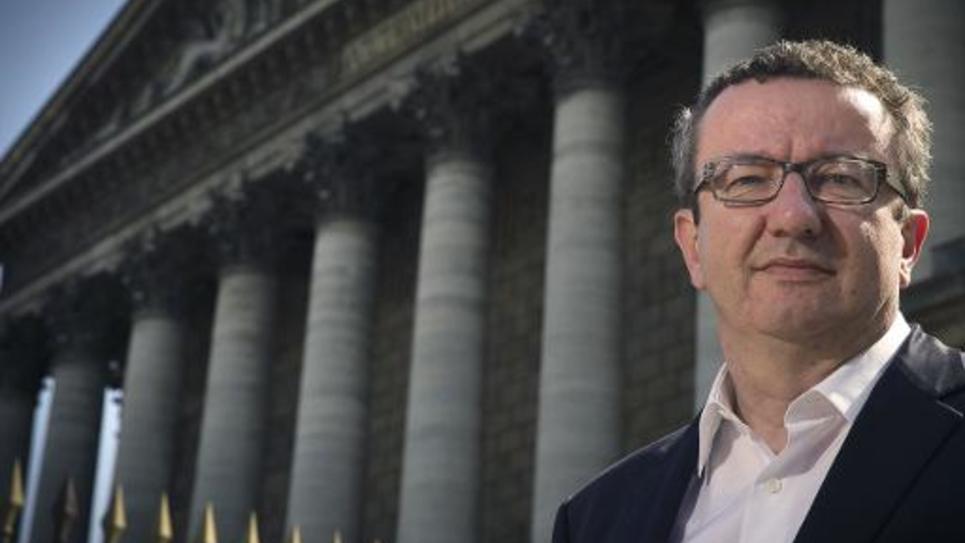 Le député socialiste de la Nièvre Christian Paul à Paris le 21 avril 2015