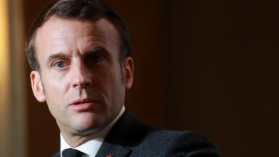 Emmanuel Macron à Chamonix, le 13 février 2020