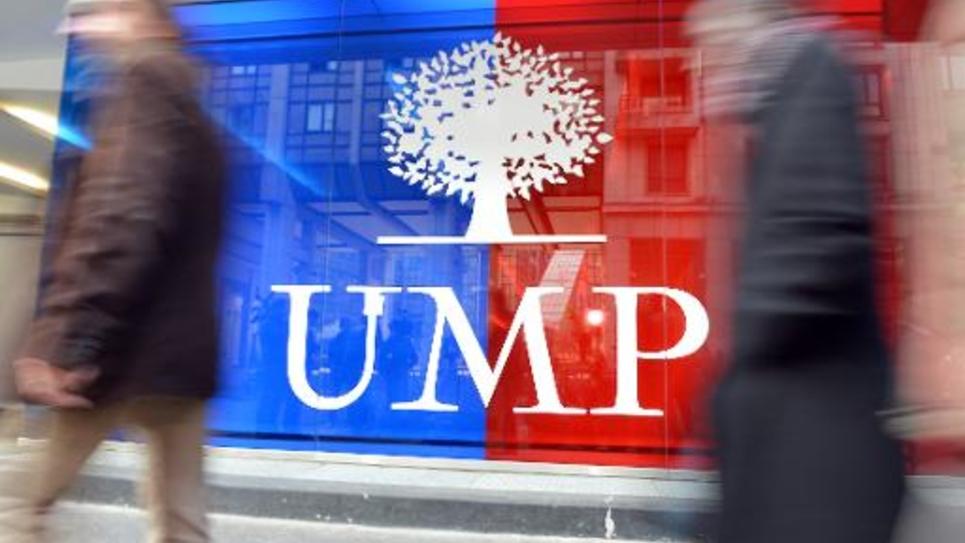 Le logo de l'UMP au siège du parti le 19 novembre 2012 à Paris