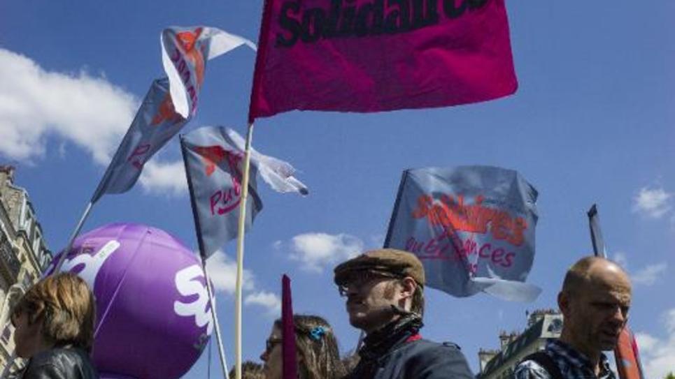 Manifestation à l'initiative de l'Union syndicale Solidaires, le 15 mai 2014 à Paris