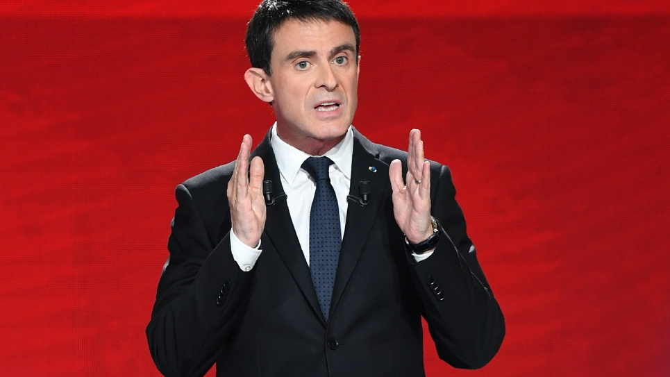 L'ex-Premier ministre français et candidat à l aprimaire du PS Manuel Valls à Paris, le 15 janvier 2017