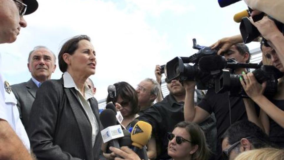 La ministre de l'Ecologie Ségolène Royal à Bastia, le 24 juillet 2014