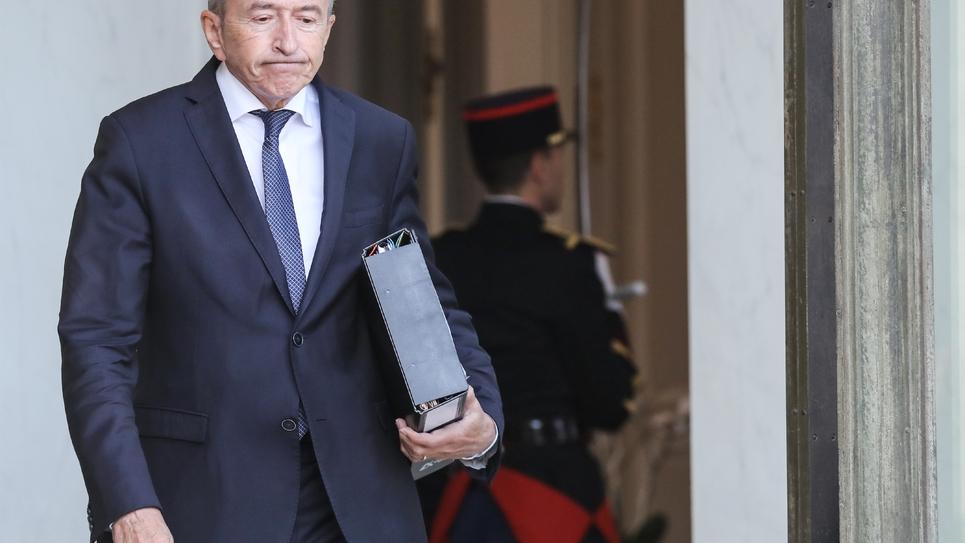 Gérard Collomb à l'Elysée à Paris le 19 septembre 2018
