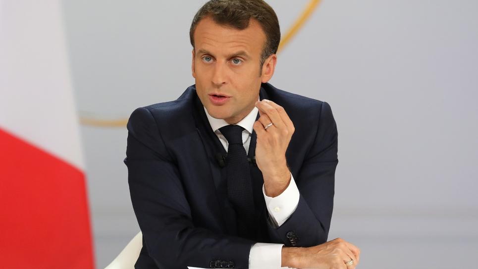 Emmanuel Macron donne une conférence de presse à l'Elysée, le 25 avril 2019