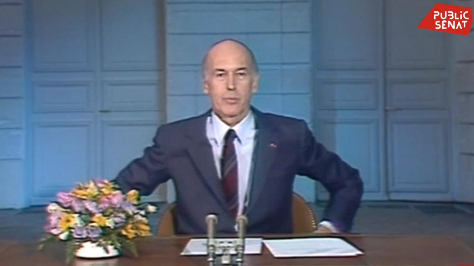 """""""Au revoir."""" VGE quittant la fonction présidentielle en 1981"""