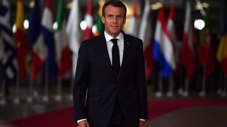 Le président Emmanuel Macron, le 17 octobre 2018 à Bruxelles