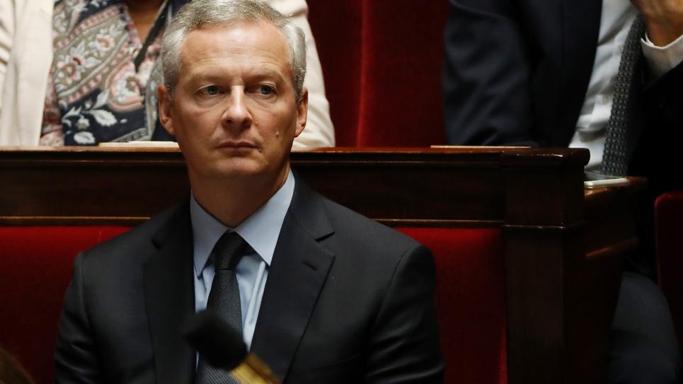 Le ministre de l'Economie Bruno Le Maire à l'Assemblée Nationale, le 17 octobre 2017 à Paris