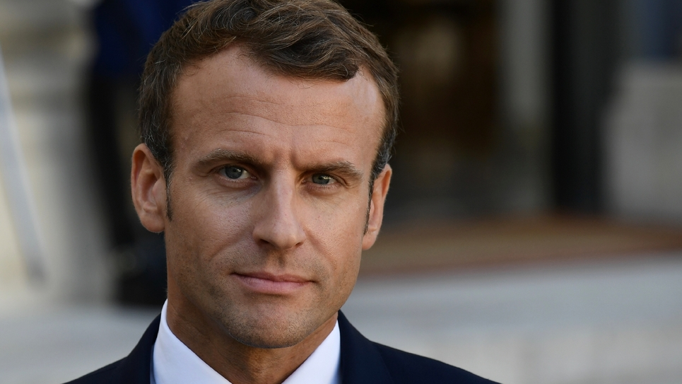 Le président français Emmanuel Macron le 16 octobre 2018 à Paris