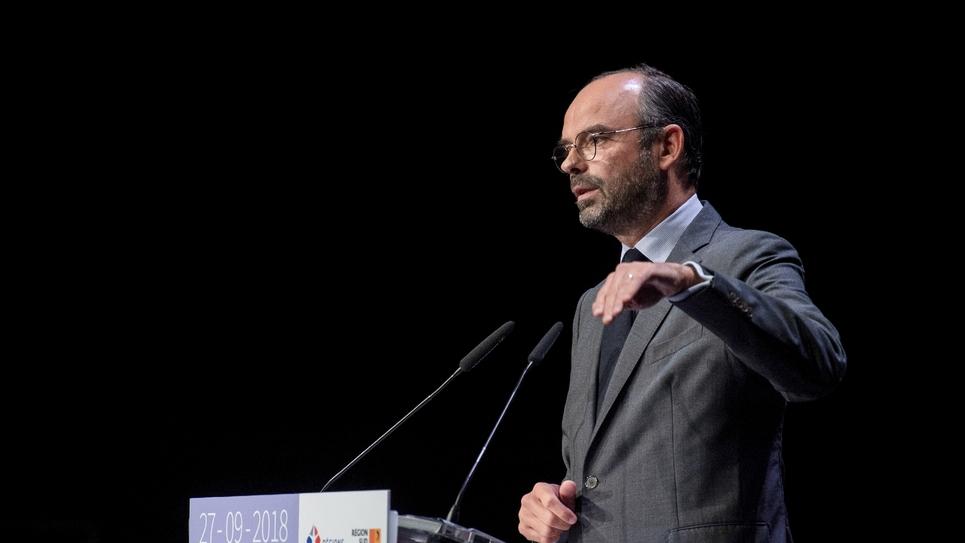 Le Premier ministre Edouard Philippe le 27 septembre 2018 au congrès des régions à Marseille