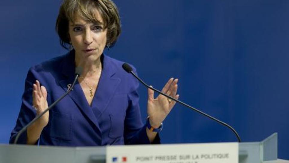 La ministre des Affaires sociales et de la Santé  Marisol Touraine lors d'une conférence de presse le 16 octobre 2014 à Paris
