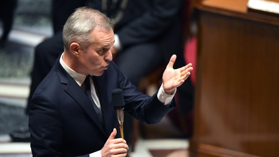 Le ministre de la Transition écologique François de Rugy à l'Assemblée nationale à Paris, le 14 novembre 2018