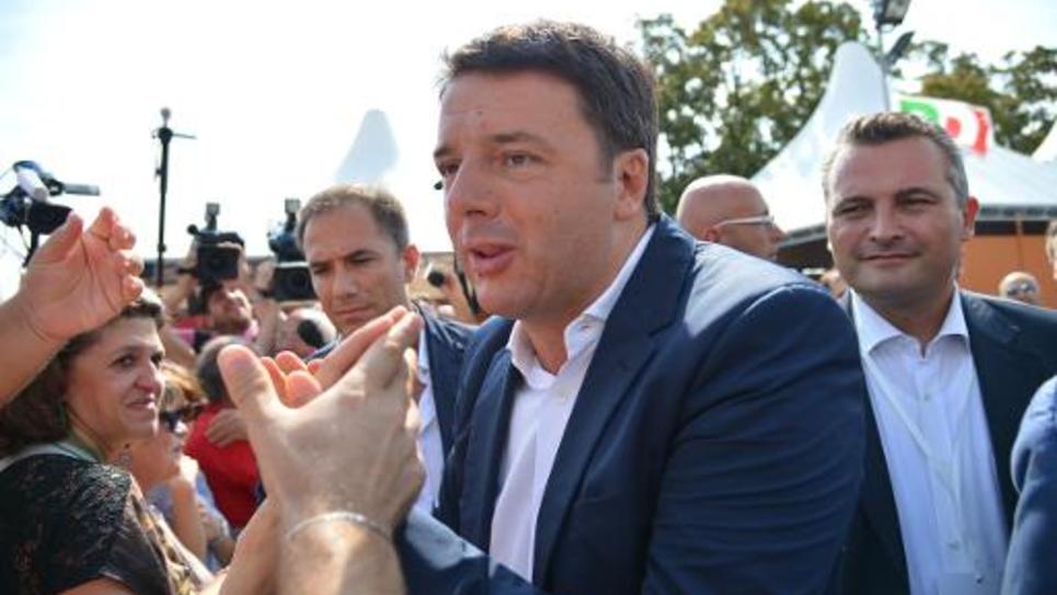 Le Premier ministre italien Matteo Renzi le 7 septembre 2014 à Bologne