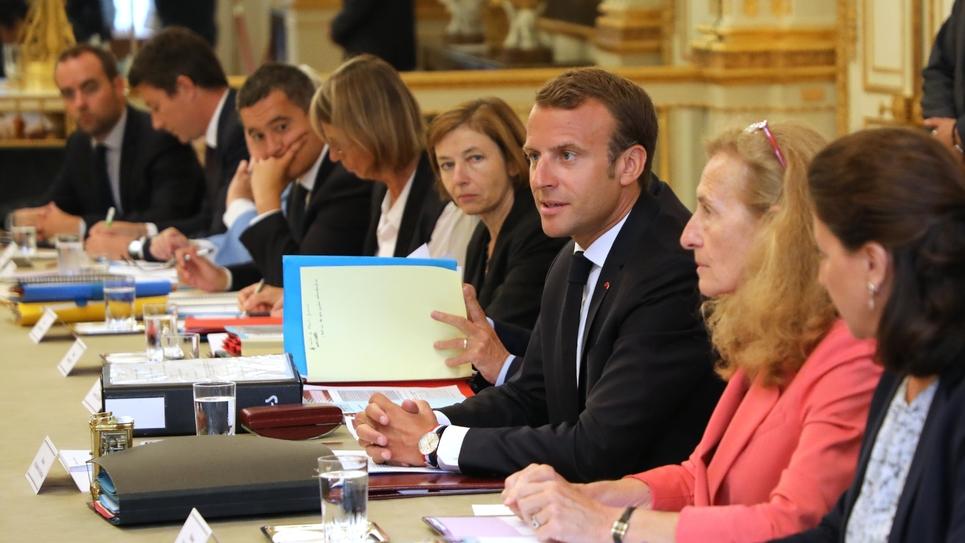 Emmanuel Macron s'exprime en conseil des ministres le 5 septembre 2018
