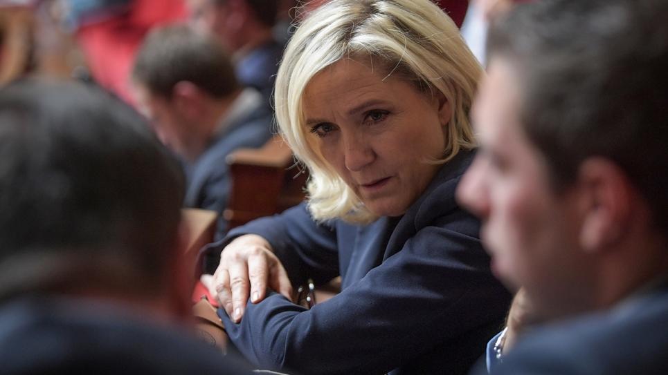 Marine Le Pen à l'Assemblée nationale, le 22 octobre 2019