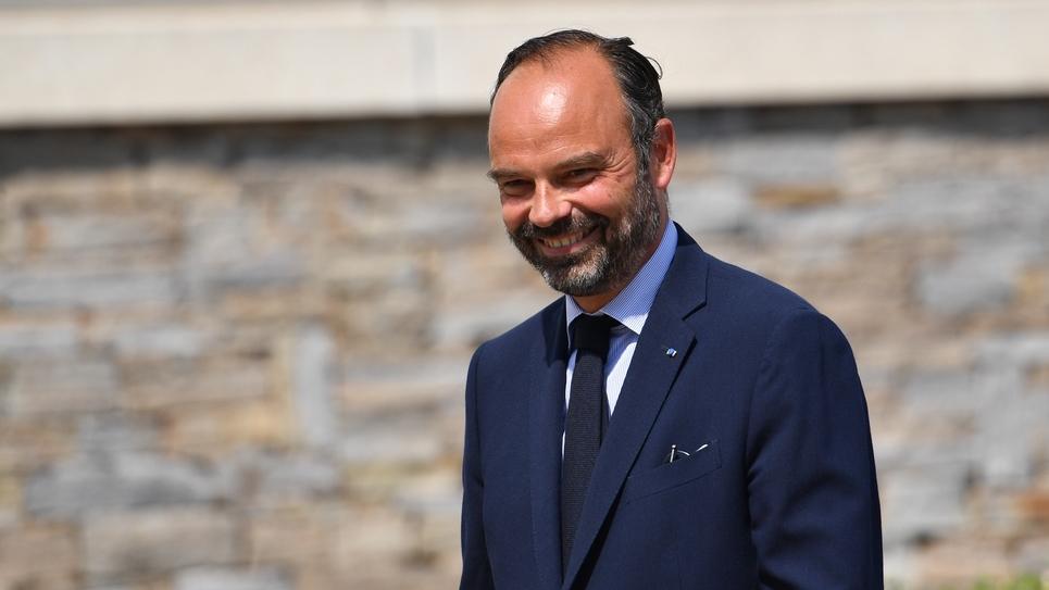 Edouard Philippe en déplacement dans un lycée de Le Muy (Var), le 30 août 2019