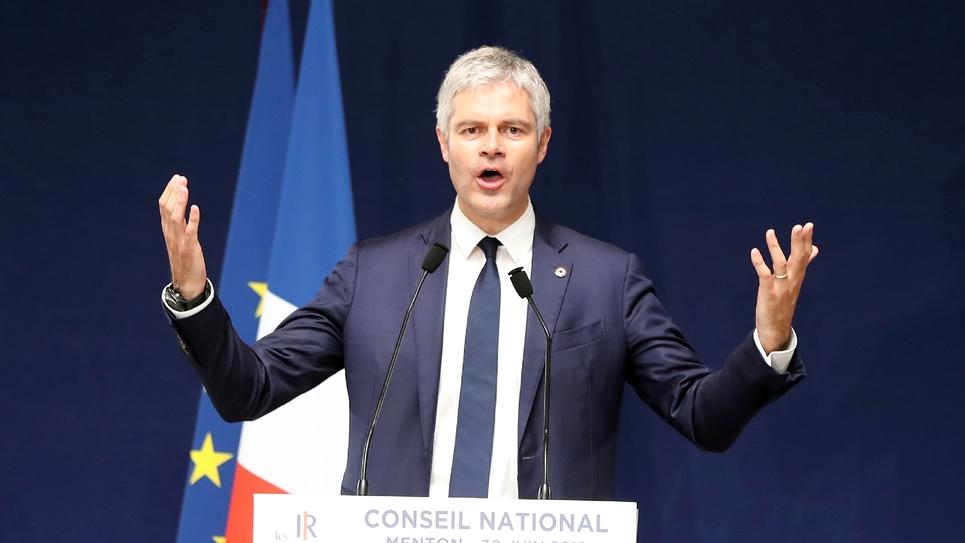 Le président des Républicains (LR) Laurent Wauquiez à Menton le 30 juin 2018